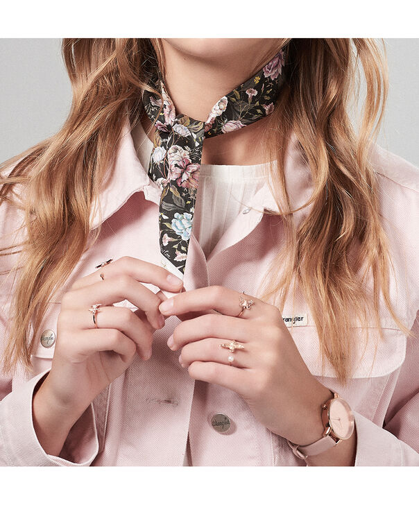 OLIVIA BURTON LONDON Scarf Tie Gift SetOB16GSET23 – Demi Dial in pink and Rose Gold - Back view