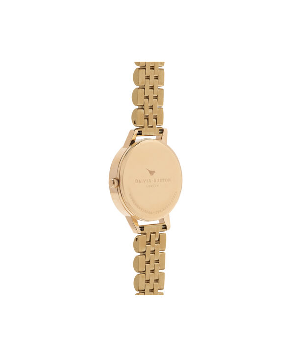 OLIVIA BURTON LONDON  Wonderland Nude Dial & Gold Bracelet OB16WD69 – Midi Dial Round in Gold - Back view