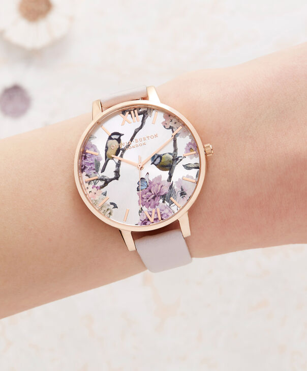 OLIVIA BURTON LONDON  Pretty Blossom Rose Gold & Blossom Watch OB16PL35 – Big Dial Round in Rose Gold and Blossom - Other view