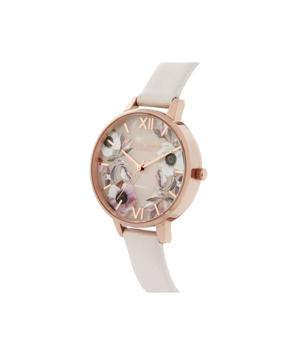 OLIVIA BURTON LONDON Semi Precious Demi Dial WatchOB16SP14 – Demi Dial in pink and Rose Gold - Side view