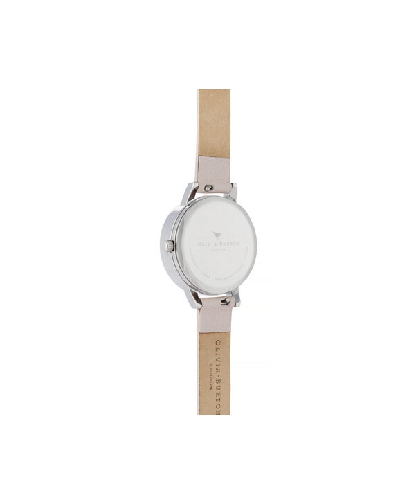 OLIVIA BURTON LONDON Lace Detail Midi Dial WatchOB16MV97 – Midi Dial in pink and Silver - Back view