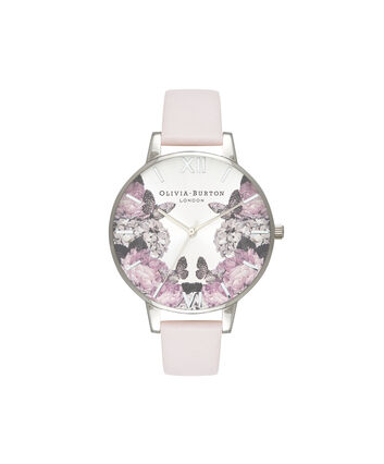 OLIVIA BURTON LONDON Signature FloralsOB16WG51 – Big Dial Round in Silver - Front view