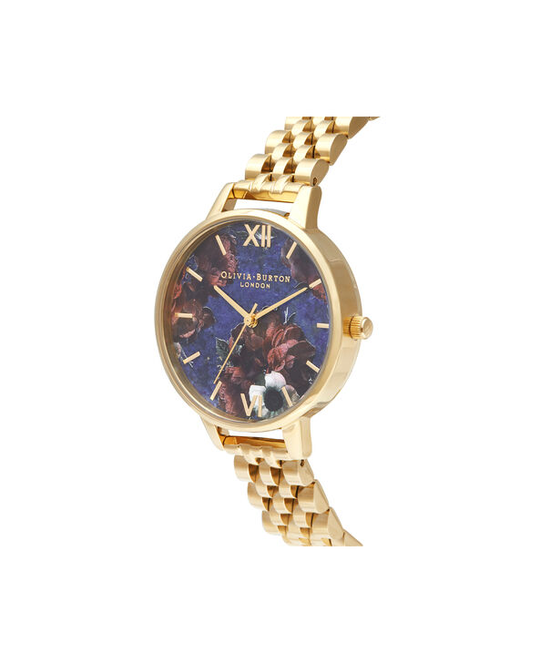OLIVIA BURTON LONDON Demi Lapis Lazuli & Gold BraceletOB16SP13 – Demi Dial in Gold and Gold - Side view