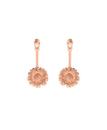 OLIVIA BURTON LONDON  Daisy Jacket Earrings Rose Gold OBJ16DAE20 – 3D Daisy Jacket Earrings - Front view