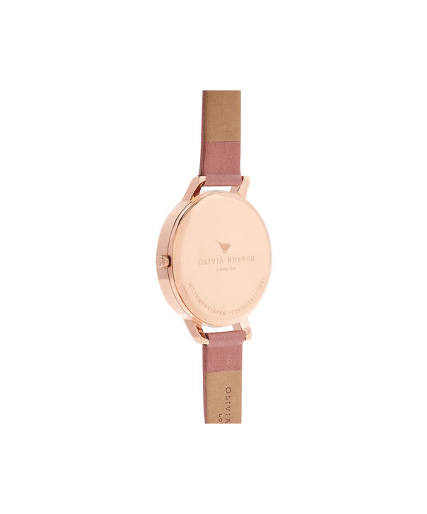 OLIVIA BURTON LONDON  Big Dial Rose & Rose Gold Watch OB15BD78 – Big Dial Round in Rose Gold and Rose - Back view