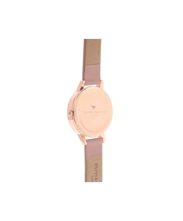 OLIVIA BURTON LONDON  Dot Design Floral Dusty Pink & Rose Gold Watch OB15EG43 – Midi Dial Round in Floral and Pink - Back view
