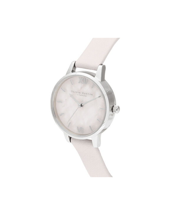 OLIVIA BURTON LONDON Midi Rose Quartz Blossom & SilverOB16SP19 – Midi Dial in Blossom and Silver - Side view