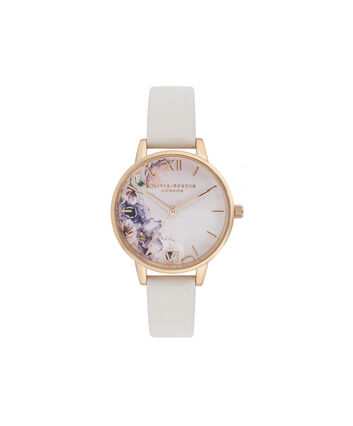 38c0cf7f1a06 OLIVIA BURTON LONDON Watercolour Florals Midi Dial WatchOB16PP54 – Midi  Dial in pink and Rose Gold