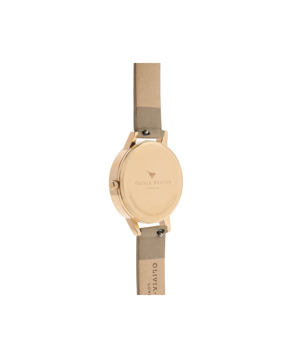 OLIVIA BURTON LONDON  Wonderland Sand, Silver & Gold OB16WD81 – Midi Dial Round in Gold and Sand - Back view