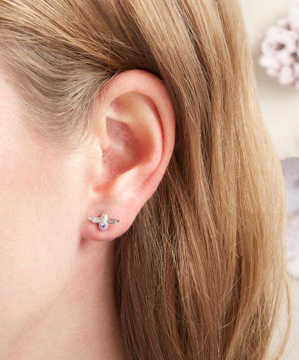 OLIVIA BURTON LONDON  3D Bee Stud Earrings Silver with Tanzanite Gemstone OBJ16AME28 – 3D Bee Bejewelled Stud Earrings - Other view