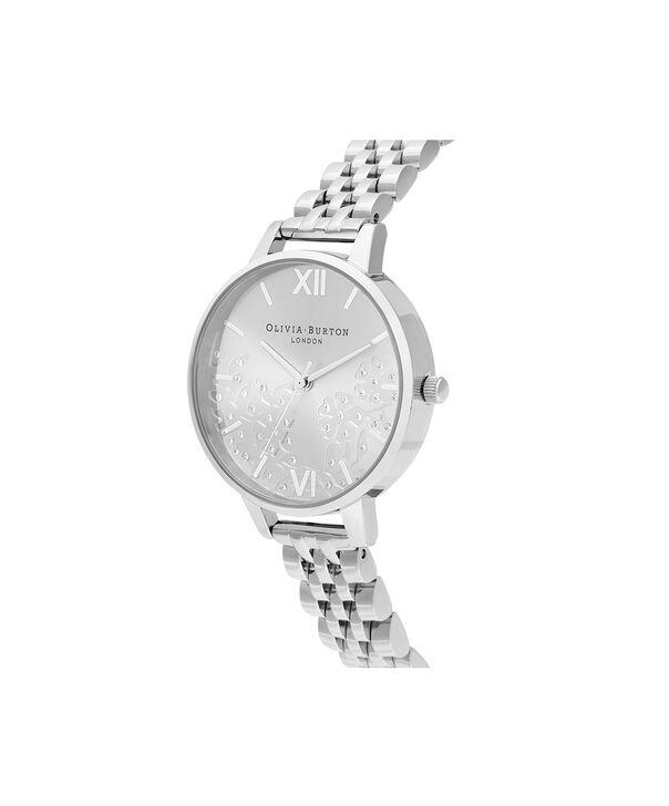 OLIVIA BURTON LONDON Bejewelled Lace  Silver BraceletOB16MV101 – Bejewlled Lace  Silver Bracelet - Side view