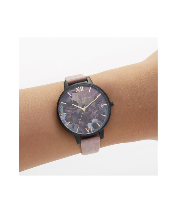OLIVIA BURTON LONDON After Dark Big Dial Watch with Black Mother-Of-PearlOB16AD38 – Big Dial in pink and Black & Rose Gold - Other view