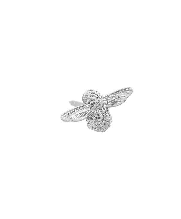 OLIVIA BURTON LONDON  Silver Bee Pin  OBPIN03 – Bee Pin in Silver - Side view