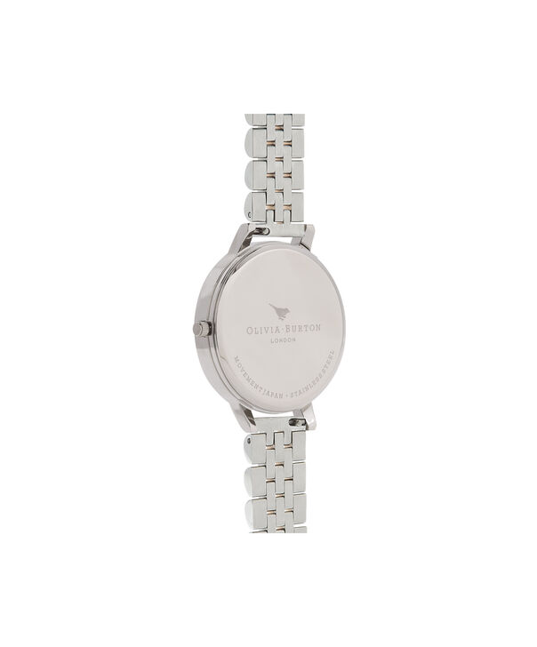 OLIVIA BURTON LONDON  3D Bee Bracelet Silver & Rose Gold OB16AM156 – Big Dial Round in Silver , Rose Gold and Silver - Back view