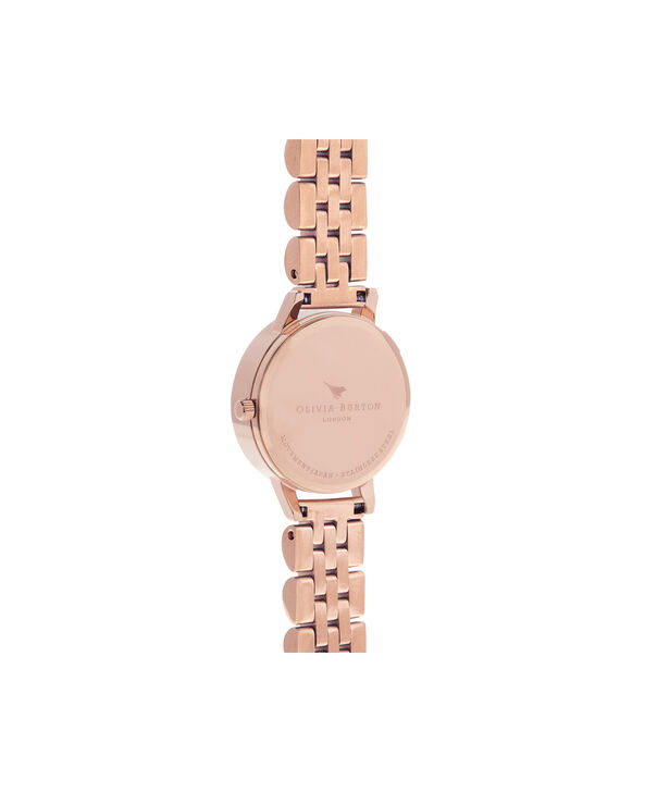 OLIVIA BURTON LONDON  3D Daisy Rose Gold Bracelet OB16FS102 – Midi Dial Round in Rose Gold - Back view