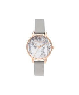 Snow Globe Winter Bunny Midi Grey & Rose Gold