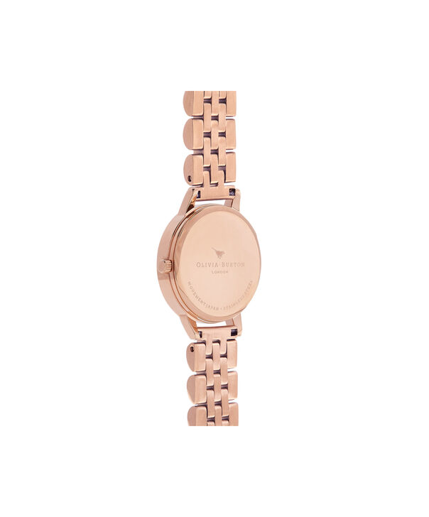 OLIVIA BURTON LONDON  Wonderland Bracelet, Rose Gold OB16WD70 – Midi Dial Round in Rose Gold - Back view