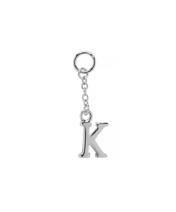 OLIVIA BURTON LONDON  K Alphabet Huggie Charm Silver OBJ16HCSK – Charms - Front view