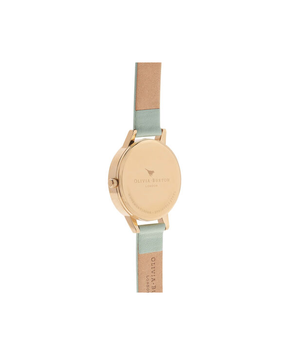 OLIVIA BURTON LONDON  Midi Dial Mint & Gold Watch OB16MDW14 – Midi Dial Round in White and Mint - Back view