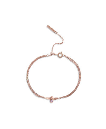 OLIVIA BURTON LONDON Bejewelled Bee Bracelet Rose Gold & AmethystOBJAMB75 – Bracelet in Rose Gold - Front view