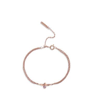 OLIVIA BURTON LONDON Bejewelled Bee Bracelet Rose Gold & AmethystOBJAMB75 – Bracelet in Rose Gold - Front view