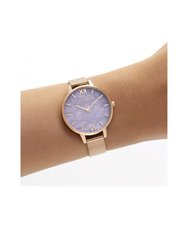 OLIVIA BURTON LONDON Demi Amethyst Rose GoldOB16SP16 – Demi Dial in London Grey and Rose Gold - Other view