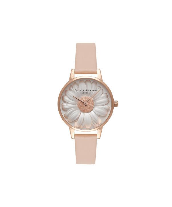 Ladies 3D Daisy Nude Peach & Rose Gold Watch | Olivia Burton London