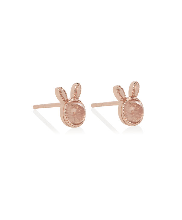OLIVIA BURTON LONDON Bunny Gift Set Rose Quartz & Rose GoldOBJGSET07 – Necklace in Rose Gold - Back view