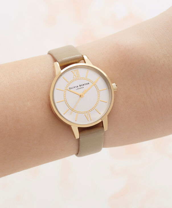 OLIVIA BURTON LONDON  Wonderland Sand, Silver & Gold OB16WD81 – Midi Dial Round in Gold and Sand - Other view