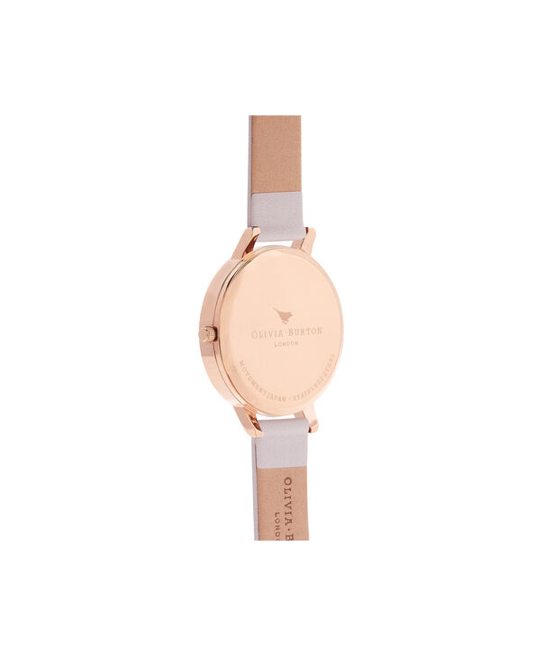 OLIVIA BURTON LONDON  Flower Show Blush & Rose Gold Watch OB15FS71 – Big Dial Round in Floral and Blush - Back view