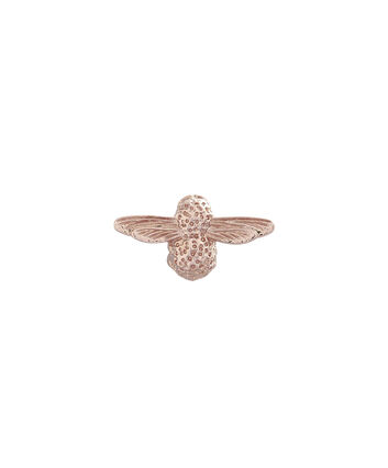 OLIVIA BURTON LONDON Rose Gold Bee PinOBPIN02 – Bee Pin in Rose Gold - Front view