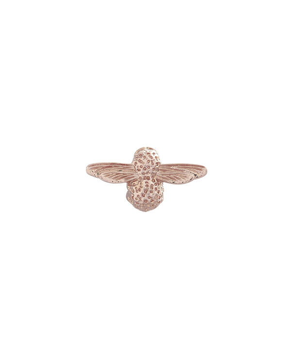 OLIVIA BURTON LONDON  Rose Gold Bee Pin  OBPIN02 – Bee Pin in Rose Gold - Front view