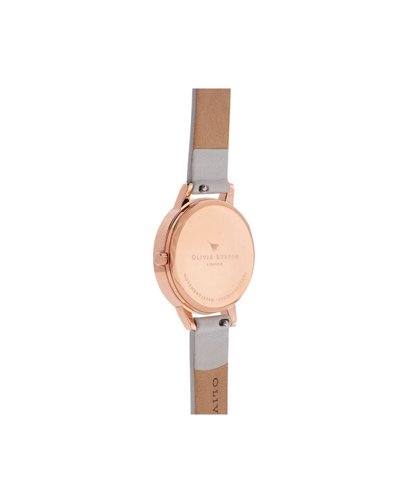 OLIVIA BURTON LONDON Abstract Florals Blush & Rose Gold Watch OB16VM12 – Midi Dial Round in White and Blush - Back view