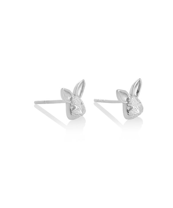 OLIVIA BURTON LONDON 3D Bunny Studs SilverOBJAME111 – 3D Bunny Studs Silver - Side view