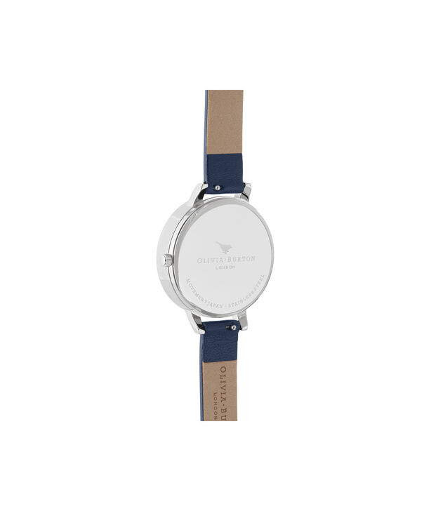 OLIVIA BURTON LONDON 3D Bee, Midnight, Navy & SilverOB16GD04 – Demi Dial in Navy and Silver - Back view