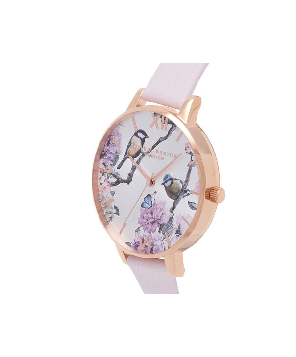 OLIVIA BURTON LONDON  Pretty Blossom Rose Gold & Blossom Watch OB16PL35 – Big Dial Round in Rose Gold and Blossom - Side view