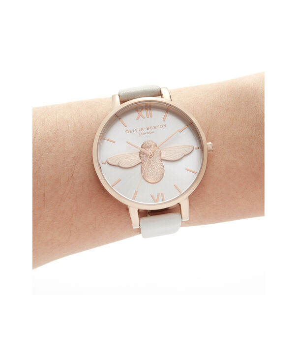 OLIVIA BURTON LONDON 3D Bee Big Dial Blush Sunray Blush & Rose GoldOB16AM158 – Demi Dial In Pink And Rose Gold - Other view