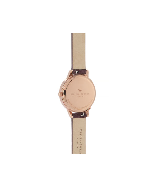 OLIVIA BURTON LONDON Case Cuff Diamante Midi Dial WatchOB16CB21 – Midi Dial in pink and  Rose Gold - Back view
