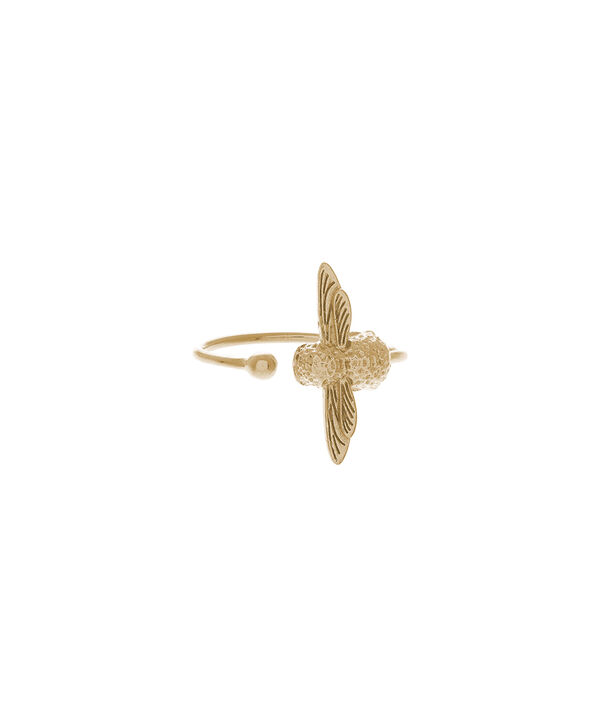 OLIVIA BURTON LONDON  3D Bee Ring Gold OBJ16AMR01 – 3D Bee Ring - Front view
