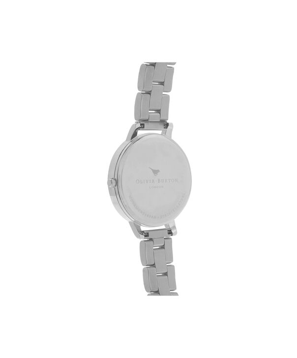 OLIVIA BURTON LONDON  Big Dial Bracelet Silver Watch OB15BL22 – Big Dial Round in Silver - Back view