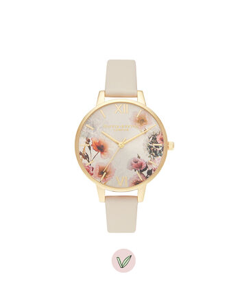OLIVIA BURTON LONDON Sunlight Florals Vegan Nude & GoldOB16EG118 – Sunlight Florals Vegan Nude & Gold - Front view