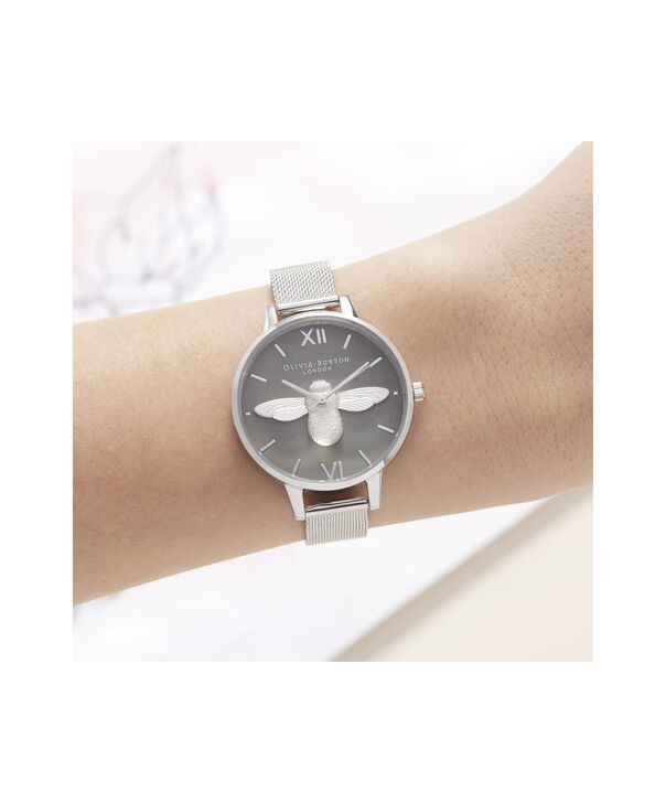 OLIVIA BURTON LONDON 3D Bee Demi Dial WatchOB16AM159 – Demi Dial in silver and Silver - Other view