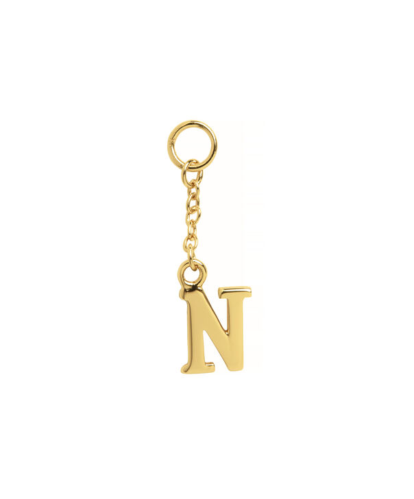 OLIVIA BURTON LONDON  N Alphabet Huggie Charm Gold OBJ16HCGN – Charms - Front view