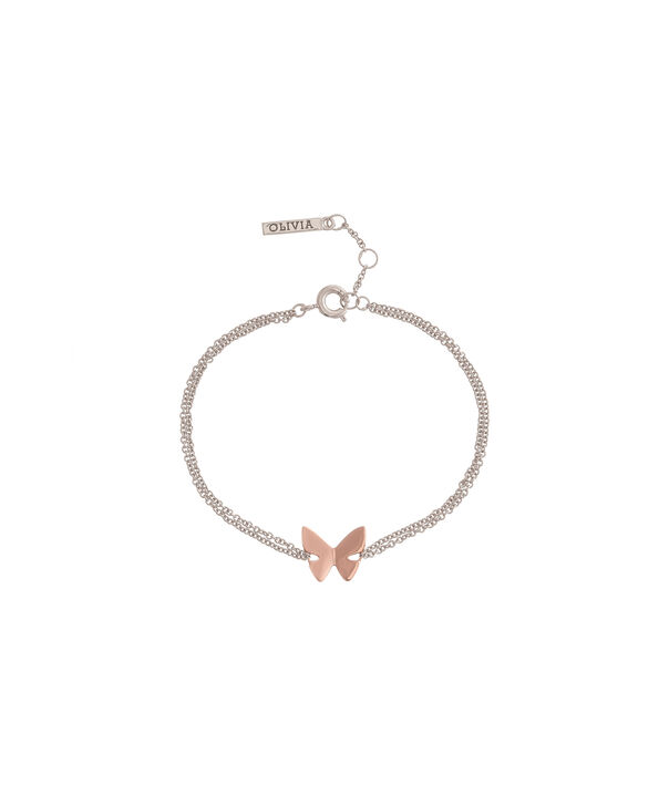 Social Butterfly Chain Bracelet Rose Gold and Silver | Olivia Burton London