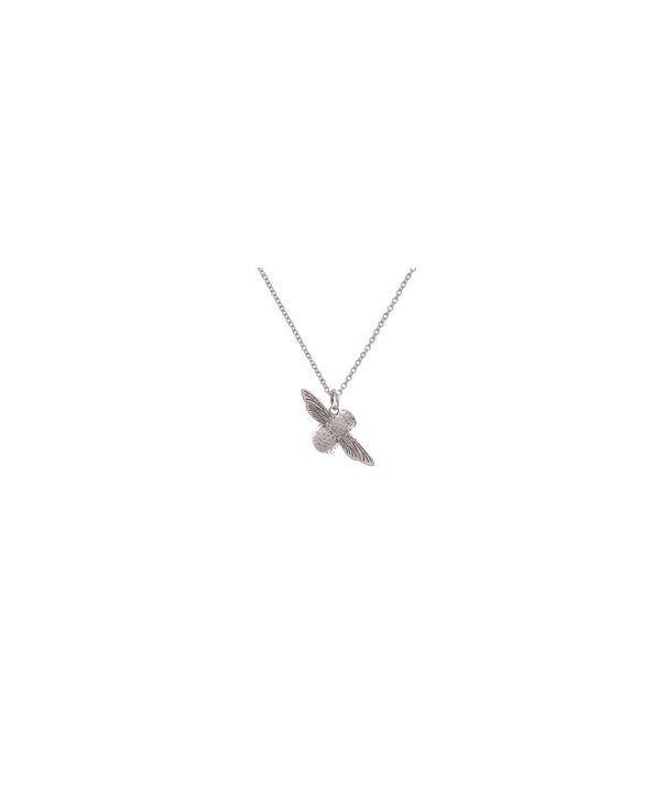 OLIVIA BURTON LONDON 3D Bee Pendant Necklace SilverOBJ16AMN26 – 3D Bee Pendant Necklace - Back view