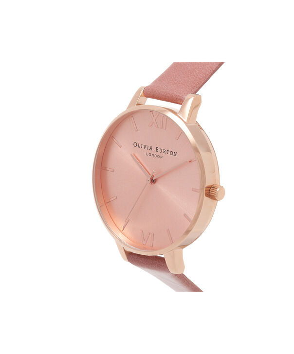 OLIVIA BURTON LONDON  Big Dial Rose & Rose Gold Watch OB15BD78 – Big Dial Round in Rose Gold and Rose - Side view
