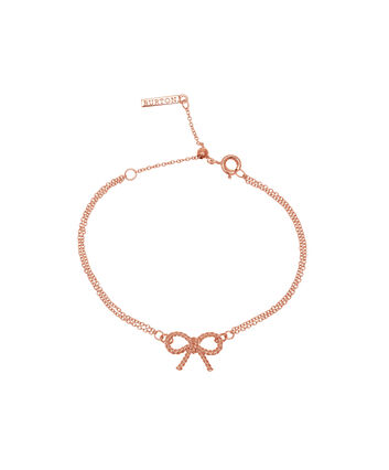 OLIVIA BURTON LONDON  Vintage Bow Chain Bracelet Rose Gold OBJ16VBB02 – Vintage Bow Chain Bracelet - Front view