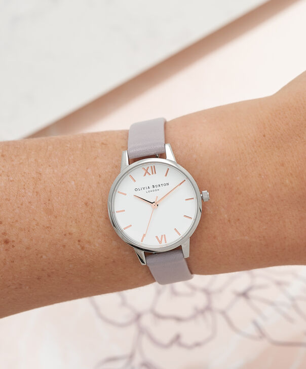 OLIVIA BURTON LONDON Midi Dial White Dial Grey Lilac Watch, Rose Gold & SilverOB16MDW26 – Midi Dial in White and Grey Lilac - Other view