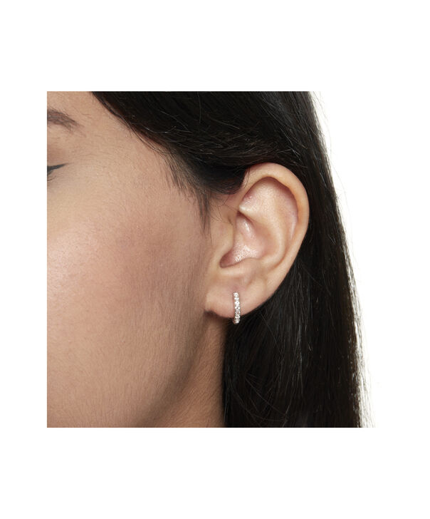 OLIVIA BURTON LONDON Huggie Hoop Earrings with White TopazOBJ16COE20 – Huggie Hoop Earrings - Back view