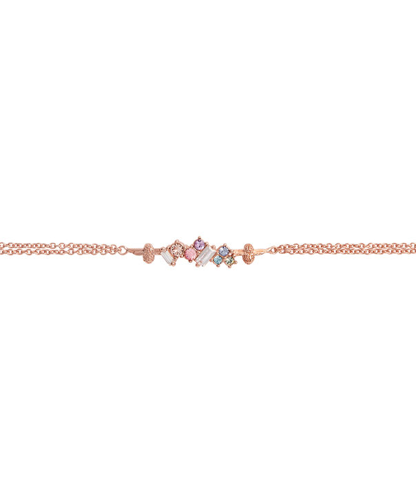 OLIVIA BURTON LONDON Rainbow Bee Chain Bracelet Rose GoldOBJAMB76 – Rainbow Bee Chain Bracelet Rose Gold - Side view